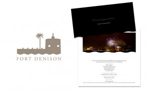 Fort Denison logo design