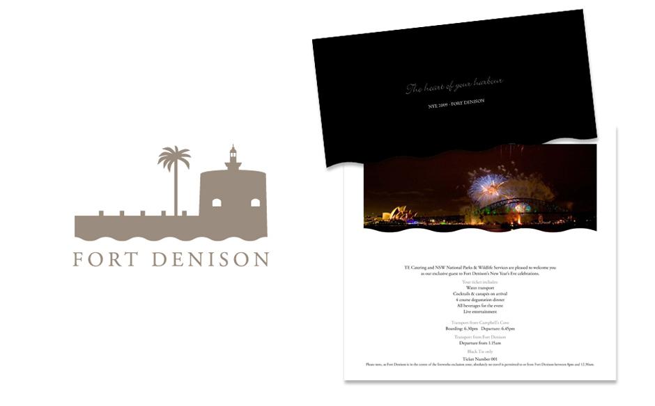 Fort Denison logo design