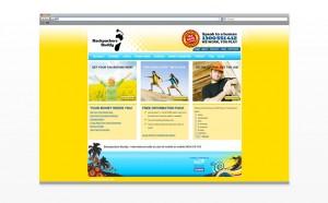 Branding, logo design, web design for backpackers Buddy