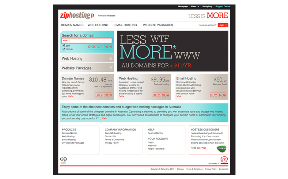 Zip Hosting web