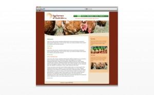 Egg Farmers Australia web design
