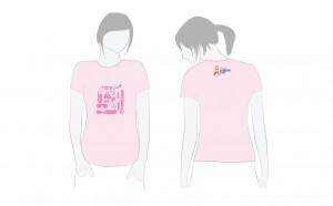 Cancer Council pink ribbon day T shirt design