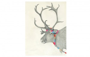 Hooded Reindeer by Lisa Congdon