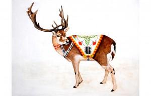 Reindeer by Lisa Congdon