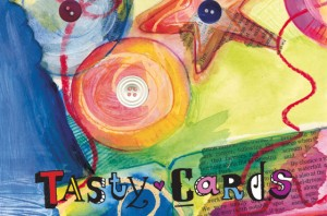 Tasty cards, mixing recipes with art